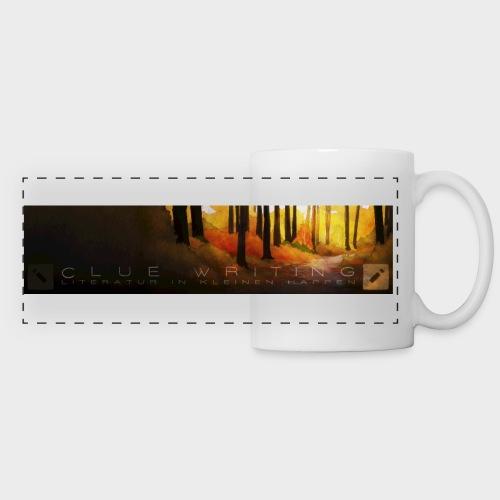 Herbstwald | Panoramatasse (Weiß) - Panoramatasse