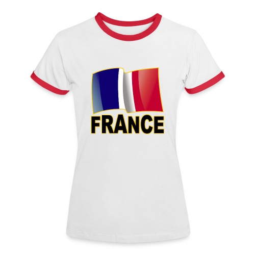 France - T-shirt contrasté Femme