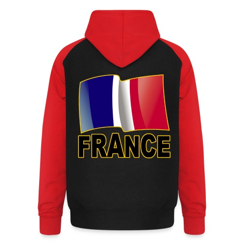 France - Sweat-shirt baseball unisexe