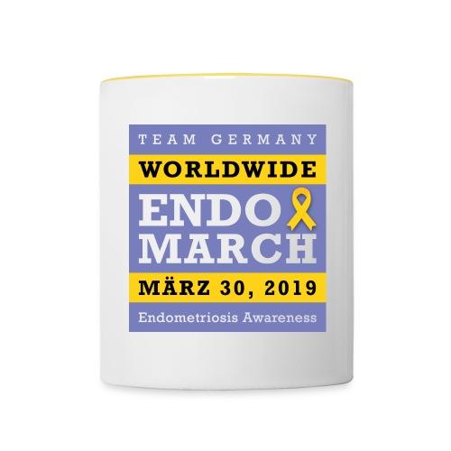 EndoMarch 2019 Germany - Tasse  - Tasse zweifarbig