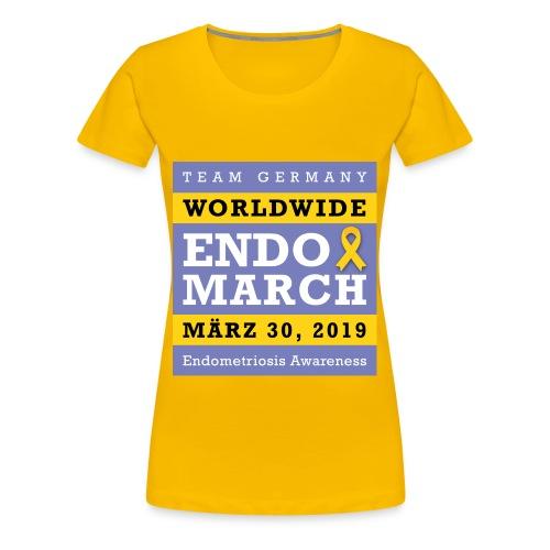 EndoMarch 2019 Germany - T- Shirt - Frauen Premium T-Shirt