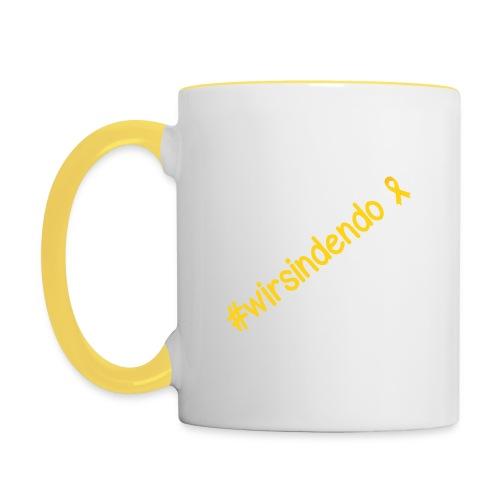 Hashtag wirsindendo - Tasse  - Tasse zweifarbig