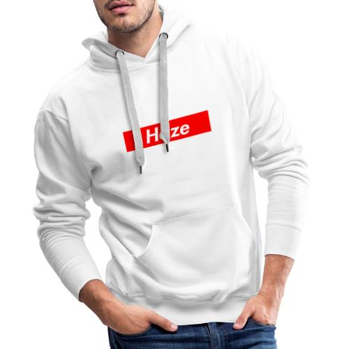 Haze Rot/Weiss - Sweatshirt - Männer Premium Hoodie