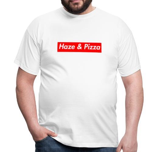 Haze & Pizza Rot/Weiss - T-Shirt - Männer T-Shirt