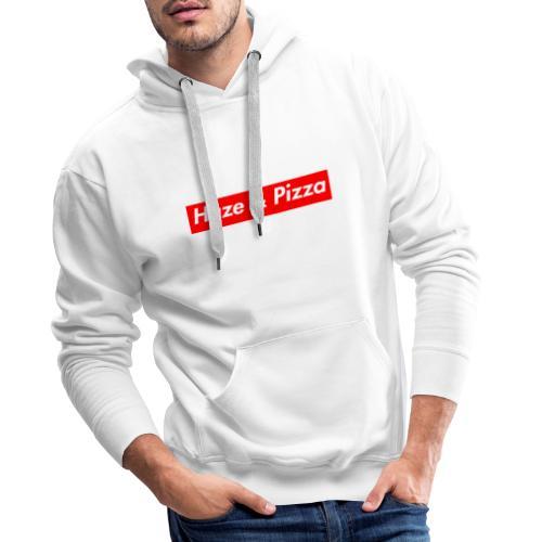 Haze & Pizza Rot/Weiss - Sweatshirt - Männer Premium Hoodie