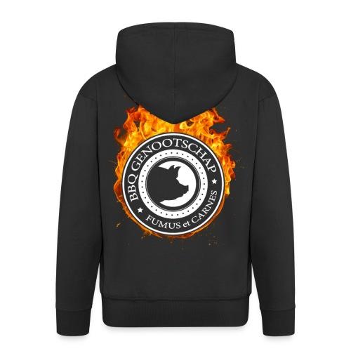 BBQ Genootschap Hooded Sweatervest - Heren - Mannenjack Premium met capuchon
