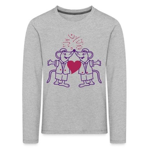 Mäuse Liebe - Kinder Premium Langarmshirt
