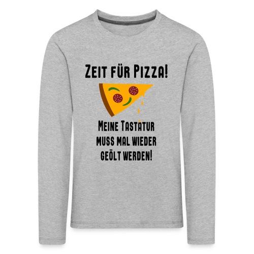 Pizza Essen Tastatur Spruch Kinder Langarmshirt - Kinder Premium Langarmshirt