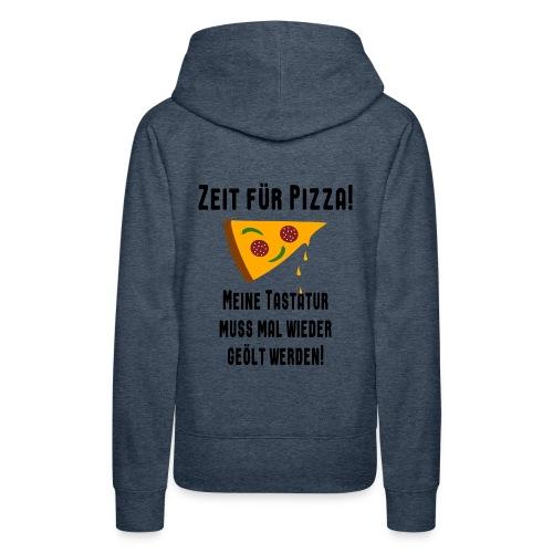 Pizza Essen Tastatur Spruch Hoodie - Frauen Premium Hoodie
