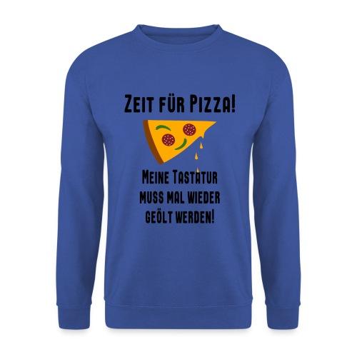 Pizza Essen Tastatur Spruch Pullover - Männer Pullover