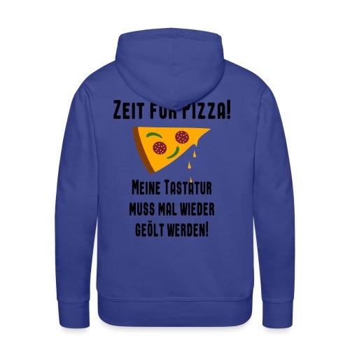 Pizza Essen Tastatur Spruch Hoodie - Männer Premium Hoodie