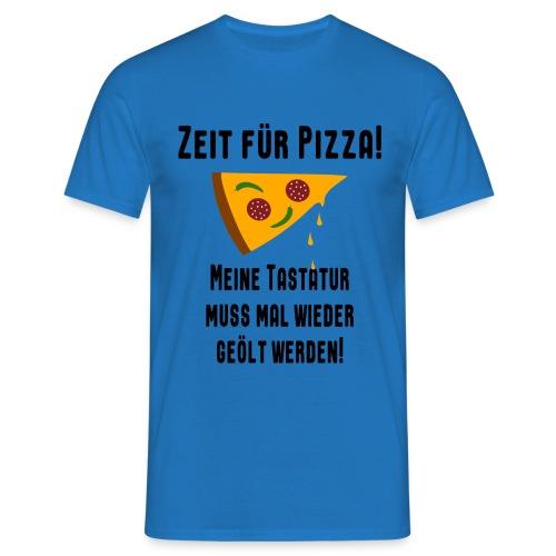 Pizza Essen Tastatur Spruch T-Shirt - Männer T-Shirt