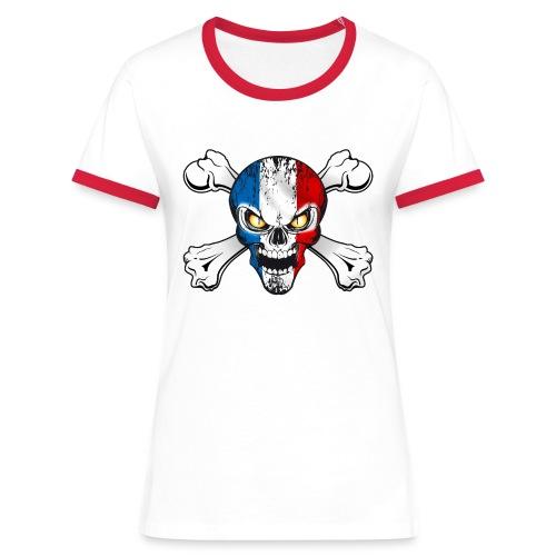France skull - T-shirt contrasté Femme