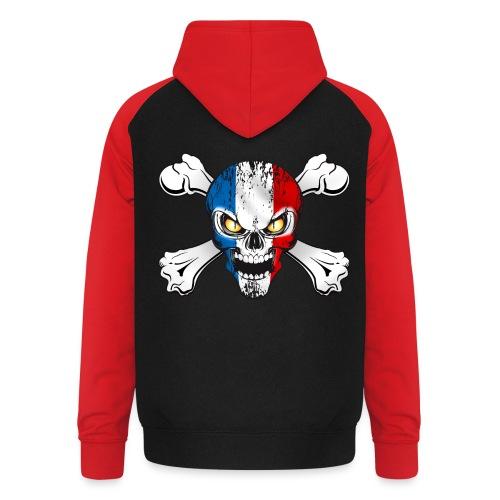 France skull - Sweat-shirt baseball unisexe