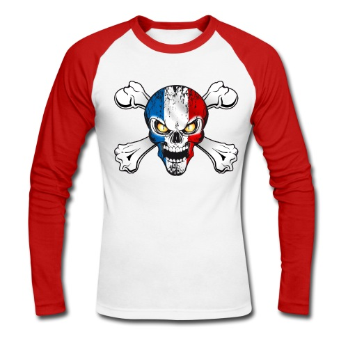 France skull - T-shirt baseball manches longues Homme