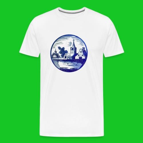 Delfts Blauw kerk heren t-shirt - Mannen Premium T-shirt