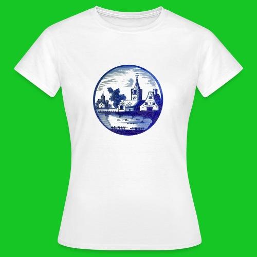 Delfts Blauw kerk dames t-shirt - Vrouwen T-shirt