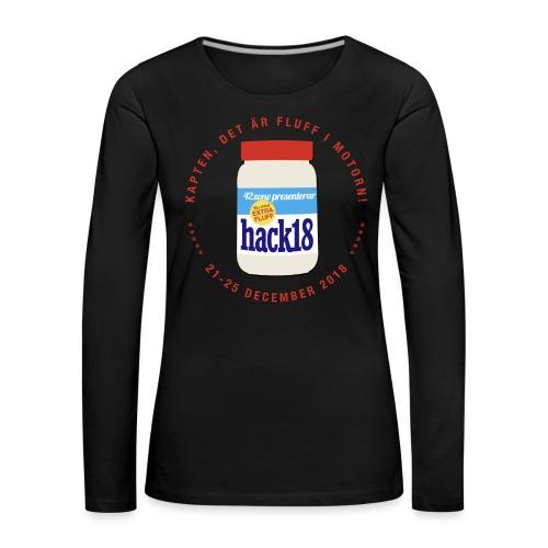 HACK18 - Den offizielle långe svarte t-tröje för damen jaa - Långärmad premium-T-shirt dam