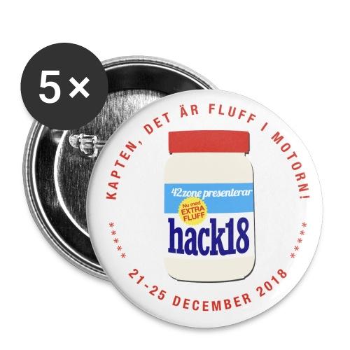 HACK18 - Pinz! - Mellanstora knappar 32 mm (5-pack)