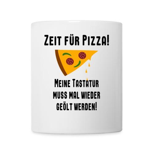 Pizza Essen Tastatur Spruch Tasse - Tasse