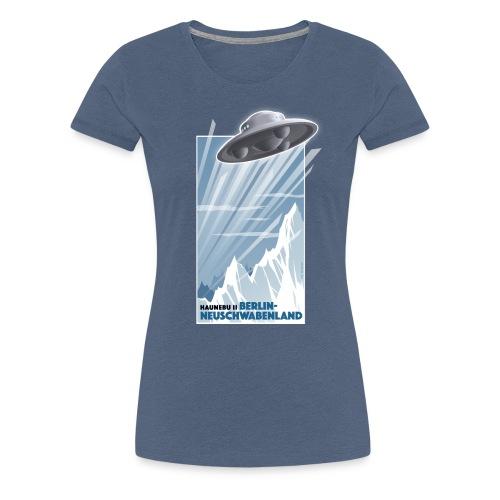 Haunebu II Blau Damen - Frauen Premium T-Shirt