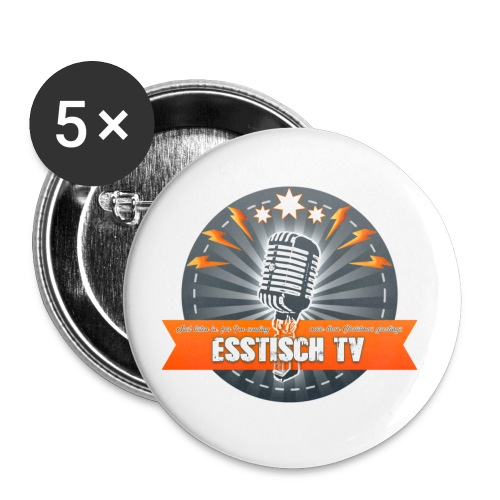 Eat, Play, Stream - Esstisch-TV - Buttons mittel 32 mm (5er Pack)