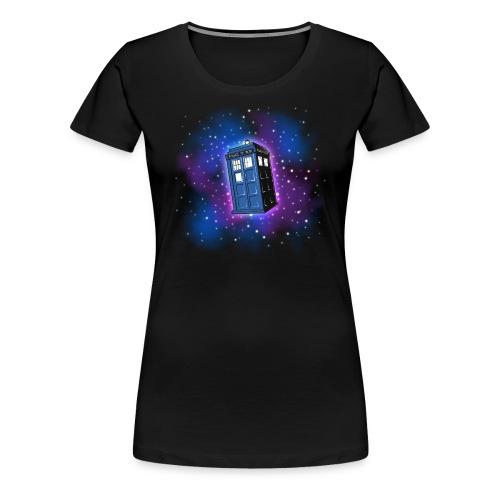 Tardis (schwarzer Hintergrund) Damen - Frauen Premium T-Shirt