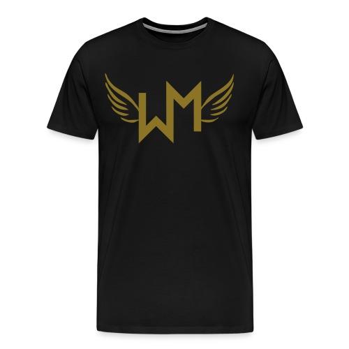 WM Angels, Black/Gold T-Shirt - Premium-T-shirt herr