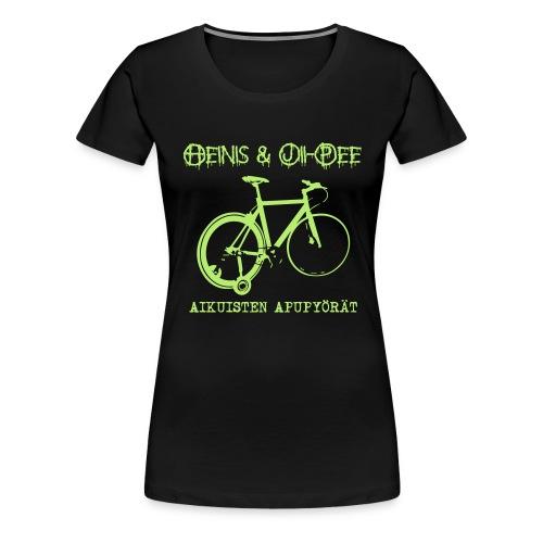 Aikuisten apupyörät - Naisten premium t-paita