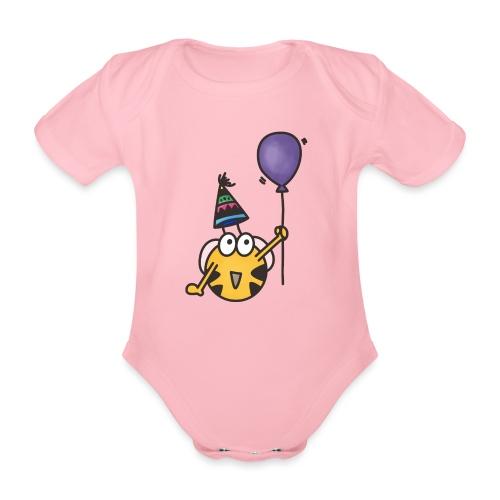 Feierbiene - Baby Bio-Kurzarm-Body