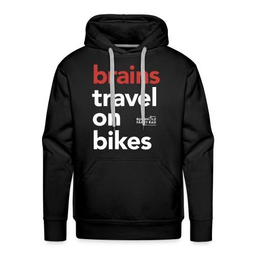 brains travel on bikes, Herren Premium Hoodie - Männer Premium Hoodie