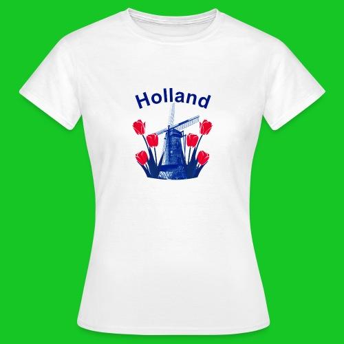 Tulpen en molen dames t-shirt - Vrouwen T-shirt