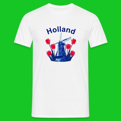 Tulpen en molen heren t-shirt - Mannen T-shirt