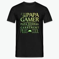 T-shirt Je suis un papa gamer noir par Tshirt Family