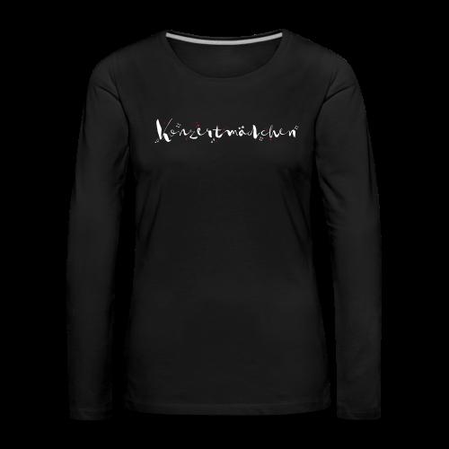 Konzertmädchen - Frauen Premium Langarmshirt