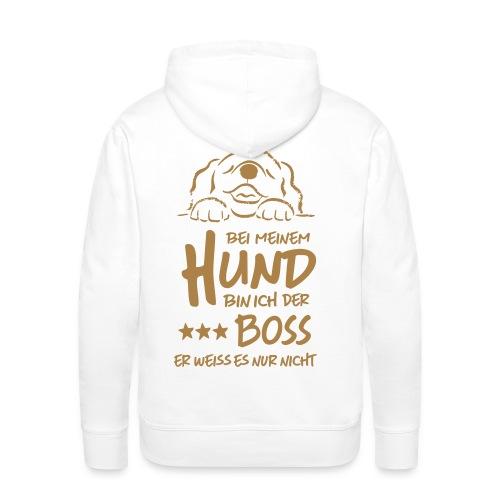 Männer Premium Hoodie - hund boss - Männer Premium Hoodie