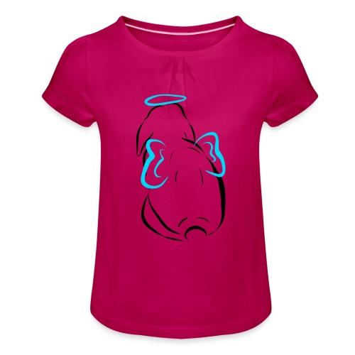 Engel - Mädchen-T-Shirt mit Raffungen