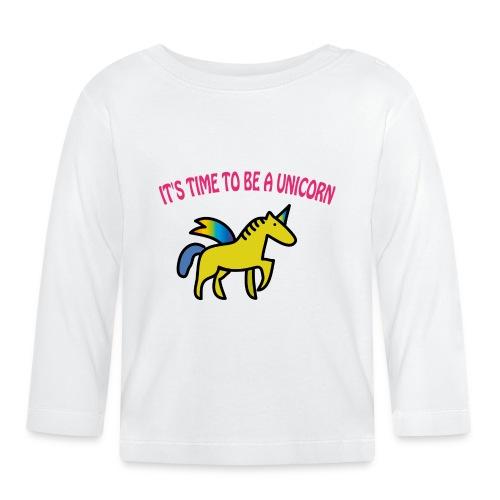 Baby Langarmshirt: Einhorn - Unicorn - Baby Langarmshirt
