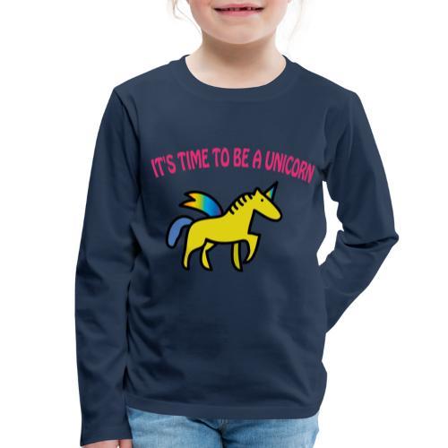Kinder Premium Langarmshirt: Einhorn - Unicorn - Kinder Premium Langarmshirt