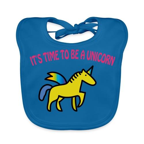 Baby Bio-Lätzchen: Einhorn -Unicorn - Baby Bio-Lätzchen