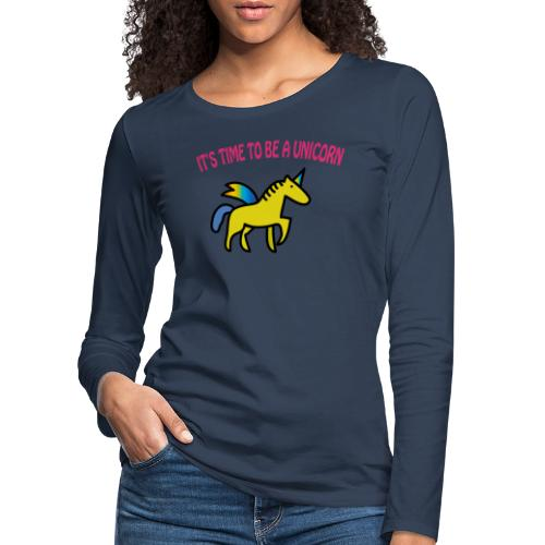 Frauen Premium Langarmshirt: Einhorn - Unicorn - Frauen Premium Langarmshirt
