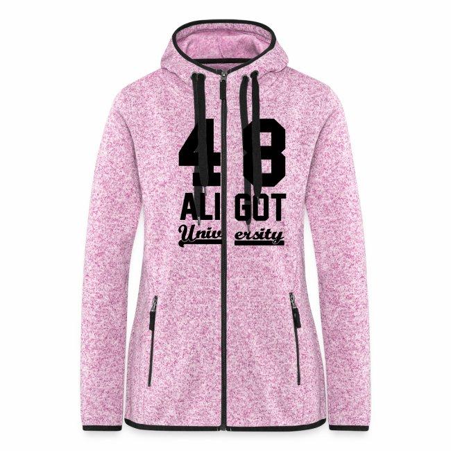291cfd9c06d2b Boutique Sky Up Vêtements régionaux   Sweat zippé femme pink   black ...