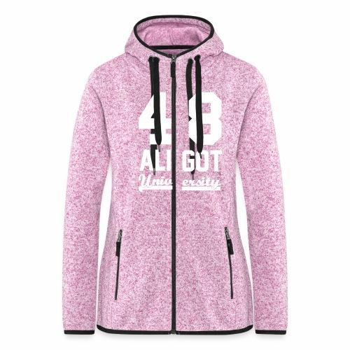 Sweat zippé femme pink & white - Veste à capuche polaire pour femmes