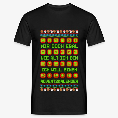 Männer T-Shirt Adventskalender Ugly Xmas - Männer T-Shirt
