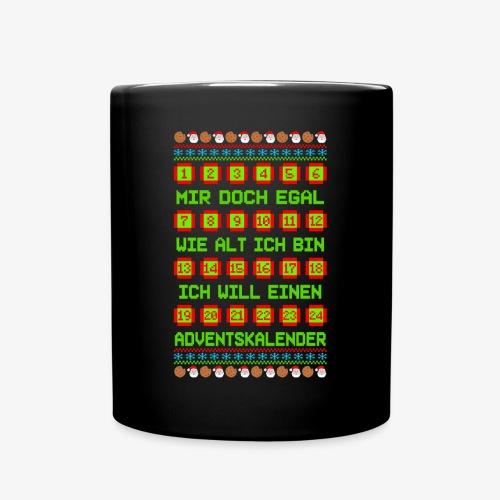 Tasse Adventskalender Ugly Xmas - Tasse einfarbig