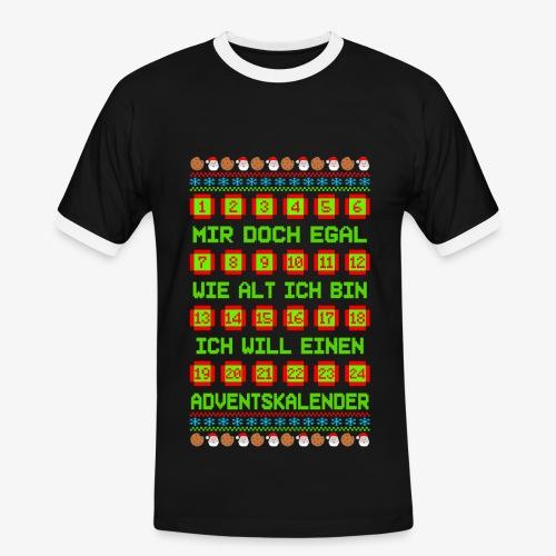 Männer Kontrast T-Shirt Adventskalender Ugly Xmas - Männer Kontrast-T-Shirt