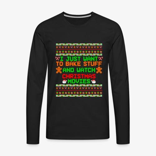 Männer Premium Langarmshirt Bake Stuff Ugly Christmas - Männer Premium Langarmshirt