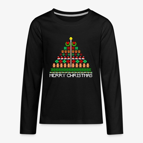 Teenager Premium Langarmshirt Ugly Christmas Tree - Teenager Premium Langarmshirt
