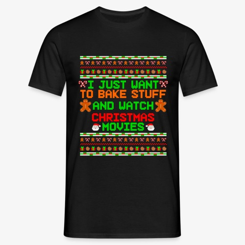 Männer T-Shirt Bake Stuff Ugly Christmas - Männer T-Shirt