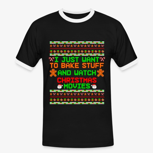 Männer Kontrast-T-Shirt Bake Stuff Ugly Christmas - Männer Kontrast-T-Shirt